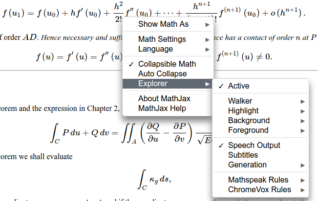 MathJax Accessibility Extensions v1 0 now available | MathJax